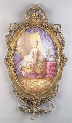 A Large Antique Continental Porcelain Plaque of Madame du Pompadour , late c. Shabby Chic Plates, Shabby Chic Pink, Versailles, Marie Antoinette, Baroque, Rococo Style, Kirsten Dunst, Tiny Treasures, French Country Decorating