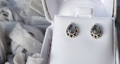 Absolutely beautiful earrings-simple, intriguing and classic-these sterling silver and moonstone earrings make for a stunning & affordable gift! Buy now on Etsy and see why others gave it 5 stars! Simple Earrings, Beautiful Earrings, Moonstone Earrings, Cufflinks, Sterling Silver, Trending Outfits, Stars, Unique Jewelry, Handmade Gifts