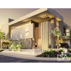 Creative Architecture, Modern Architecture House, Facade Architecture, Modern House Facades, Duplex House Design, Dream Home Design, Modern House Design, Facade Design, Exterior Design
