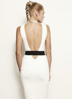 Vanessa Bodycon Cut-Out Backless Banded Dress - More Colors,  Dress, backless  sustainable  organic  eco-friendly  cutout  cut-out, Eco Friendly