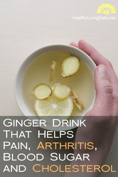 Create a Tasty Ginger Drink That Helps Reduce Pain, Arthritis, High Blood Sugar and Bad Cholesterol 👍👊😊🤩  Did you know that drinking ginger helps reduce pain and helps fight diseases? Read this article to find out more.   #ginger #gingerdrink #reducepain #arthritis #highbloodsugar #badcholesterol #stomachdisorders #gingerbeer #chronicpain #gingerdrinkrecipe #gingerjuice #digestion #fluandcolds #cancer #bloodcirculation #healthylivingdaily #followme #follow