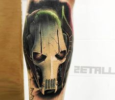 Amazing 3 colors realistic tattoo style of General Grievous from Star Wars done by tattoo artist Victor Zetall Movie Tattoos, Geek Tattoos, Tattoos For Guys, Sleeve Tattoos, Cool Tattoos, Tattoo Drawings, I Tattoo, Tattoo Quotes, Star Wars Wallpaper