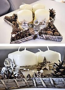 Wianek Świąteczny biel i złoto