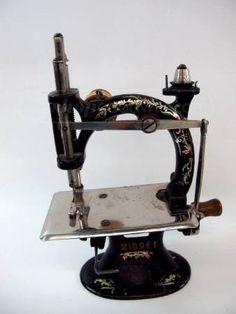 Vintage Midget Hand Crank Sewing Machine