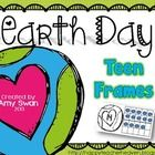 "Happy Earth Day!!  :)  I hope you and your students enjoy this fabulous Earth Day ""Teen Frame"" freebie for your math centers or stations!  Students..."