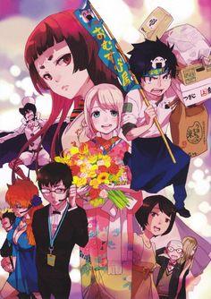 Ao no Exorcist (Rin Okumura, Yukio Okumura, Shiemi Moriyama, Ryuji Suguro, Mephisto Pheles, Izumo Ka