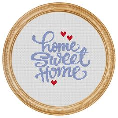 Cross Stitch Pattern PDF home sweet home DD0015 on Etsy, $5.60 CAD
