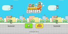 Swing Copters 2, nuevo juego del creador de Flappy Bird http://j.mp/1OuFNyh |  #Android, #IOS, #JuegosMóviles, #Noticias, #SwingCopters2, #Tecnología