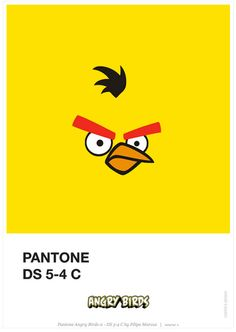 Pantone DS  5-4 C & Angry Birds, by Flilipe Marcus.