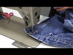 Een nieuwe rits in een broek zetten. Nederlandse VIDEO. Sewing Hacks, Sewing Tutorials, Sewing Techniques, Refashion, Diy Clothes, Videos, Zipper, Crochet, Fabric