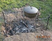 Iron Cooking Grill, Hand Wrought by Blacksmith
