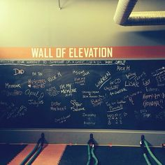 A gym in Winnepeg, Canada that has been ACTIVATED using basic principles of activprayer. Here is a Dedication Wall, a basic element in any #activprayer center. #prayer #intention