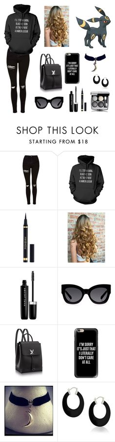 """Umbreon Inspired (made by my cousin)"" by lauren-nicolec ❤ liked on Polyvore featuring Topshop, Yves Saint Laurent, Marc Jacobs, Karen Walker, Casetify and Bling Jewelry"