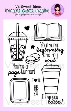 "V's Sweet ""Coffee Break"" Stamp set"