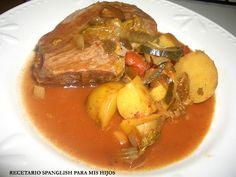 Recetario Spanglish para mis hijos: Carne de res con vegetales en salsa de tomate en crock pot o cocción lenta