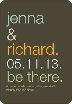Be There - Save the Date Magnets - Jenny Romanski - Dark Gray - Gray : Front