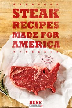 We may be a country of many tastes, but United We Steak. Explore tasty and simple state-inspired steak recipes that are perfect for summer grilling. Every state has their own flavor, so be sure to find yours. Grilled Steak Recipes, Grilling Recipes, Pork Recipes, Mexican Food Recipes, Cooking Recipes, Dinner Recipes, Steak Dishes, Food Dishes, Cooking The Perfect Steak