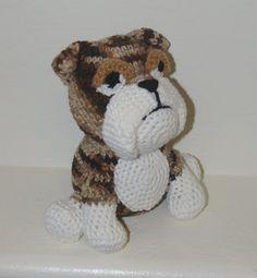 Tater the English Bulldog!  Plush Brindle Bulldog, Handmade by KuddlesAndKritters