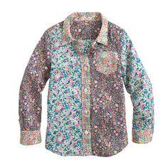 Girls' liberty pocket shirt in mixed floral