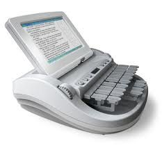 Diamante - pretty much the best stenograph machine on the market right now. Hope to have one of these someday :)