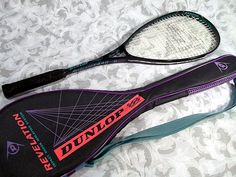 Sold DUNLOP Revelation 440 ISIS Flex Tech Squash Racket with Cover.