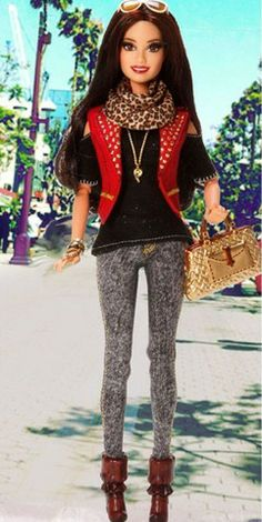 City streets make the most amazing runways! | Barbie Style Raquelle Doll - I have this doll