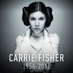 Carrie Frances Fisher (October 21, 1956 – December 27, 2016)