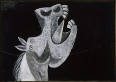 Head Of A Horse,sketch For Guernica Artwork By Pablo Picasso Oil Painting & Art Prints On Canvas For Sale Pablo Picasso, Picasso Guernica, Art Picasso, Picasso Paintings, Cubist Movement, Horse Sketch, Georges Braque, Art Brut, Oeuvre D'art
