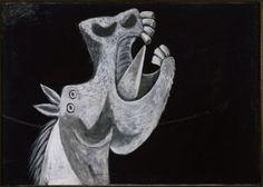 Pablo Picasso (Malaga 1881-Mougins 1973) Testa di cavallo. Schizzo per Guernica 2 maggio 1937, olio su tela