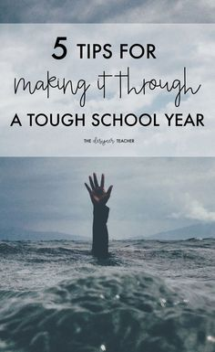 Stressed, overwhelmed, burnt out? Here are a few teacher tips for making it through a tough school year. You can do this!  #teaching
