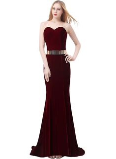 Belted Long Prom Dresses 2015
