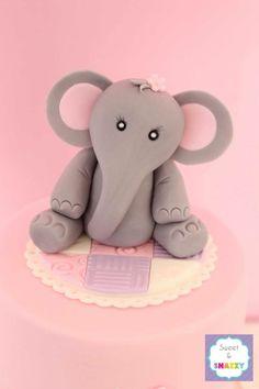 Fondant Elephant Cake Topper by Sweet & Snazzy https://www.facebook.com/sweetandsnazzy