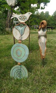 Céramique d'Art Magali Mas: Nouveautés: Poésies de jardin
