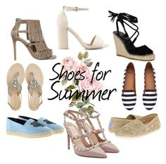 """""""Shoes"""" by rebeccahansens ❤ liked on Polyvore featuring Kenzo, Valentino, Antik Batik, Nly Shoes, TOMS, Steve Madden and H&M"""