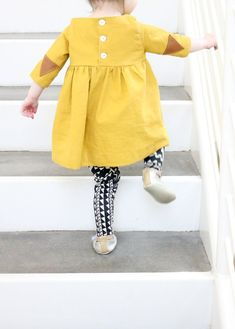 T is for Two (54 of 67) A 5 and 10 Twirly Tunic w Triangle elbow patches by Delia Creates