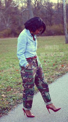 Camo Pants Outfit Idea
