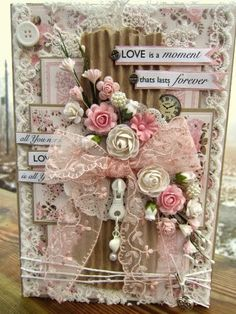 Valentine's Day Card - Essential products for is project can be found on Crafting.co.uk - for all your crafting needs.