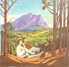 Carl Becker chats to Pierneef Nostalgic Images, Artist At Work, Art Masters, Painting, Landscape Illustration, South African Art, Artwork, Landscape Art, Beautiful Art
