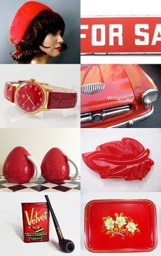 Red by Karen McDougal on Etsy--Pinned with #epsteam #hot TreasuryPin.com