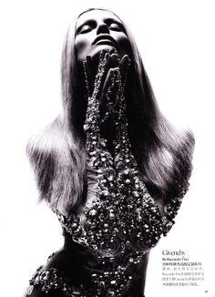 Edita Vilkeviciute | Sølve Sundsbø #photography | Vogue China Collections S/S 2011