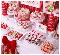 mesas de dulces para baby shower navideño - Buscar con Google