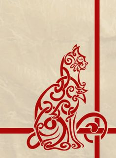 """Celtic Knot Inspired Cat by labrattish: Inspired particularly by the illuminated manuscript the """"Book of Kells"""" KB: This would make a great cross stitch pattern. Celtic Symbols, Celtic Art, Celtic Knots, Celtic Dragon, Mayan Symbols, Egyptian Symbols, Ancient Symbols, Book Of Kells, Celtic Patterns"""