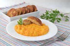Sarokkonyha: Sárgarépa főzelék tojáspogácsával Food Inspiration, Risotto, Food And Drink, Meat, Chicken, Ethnic Recipes, Baba, Cakes, Cake Makers