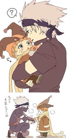 Naruto and Kakashi *^* So cuuuute~