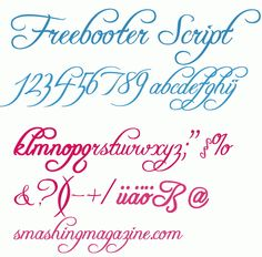 Free Fonts - Freebooter