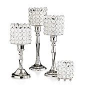 Leeber Candle Holders, Sparkle Collection  also get planter/vase glass cyrstals bead for centerpeices