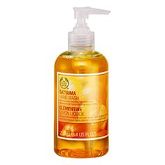 Body Shop hand soap in Satsuma - the smell is the best!