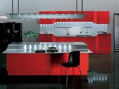 Cozinha Moderna Vermelha