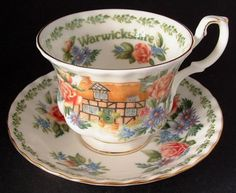 Cup And Saucer Royal Albert Warwickshire English Country Cottages Bone China…
