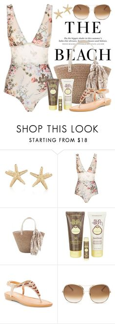 """Sun's Out: Beach Day 3824"" by boxthoughts ❤ liked on Polyvore featuring Ross-Simons, H&M, Zimmermann, Sun Bum, DbDk, Chloé and beachday"